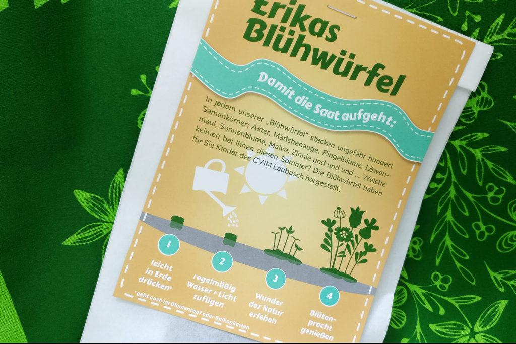 Anleitung für Erikas Blühwürfel