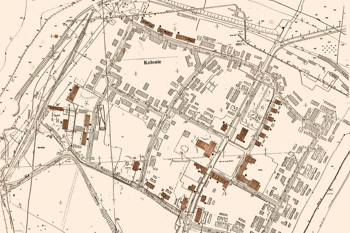 Kolonie Gartenstadt Erika , Fernwärme Lageplan, Werner